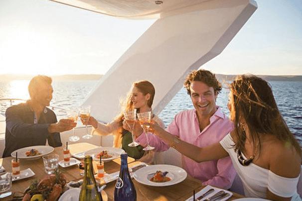 yacht dinner celebration